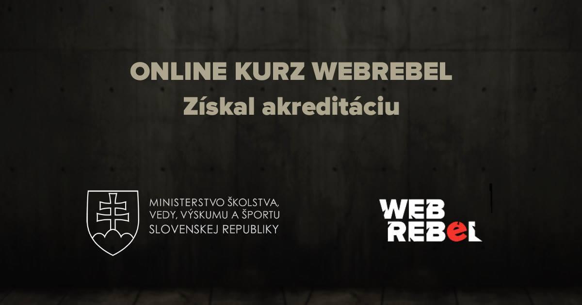 Online kurz Webrebel - certifikát