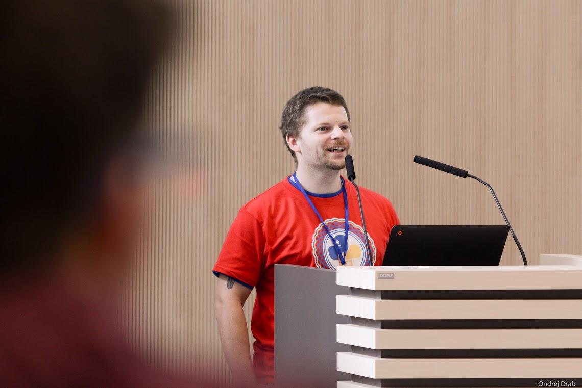 Hlavný organizátor PyCon konferencie Richard Kellner